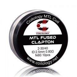 Pack 10 MTL Fused Clapton NI80 - Coilology