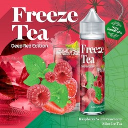 Raspberry Mint & Wild Strawberry Ice Tea - FREEZE TEA - Deep Red Collection 50ml